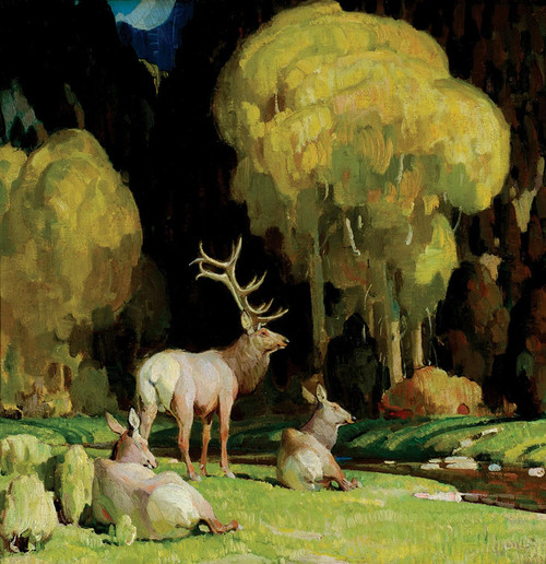 Art Prints of October in the Canyon Bottom by William Herbert Dunton