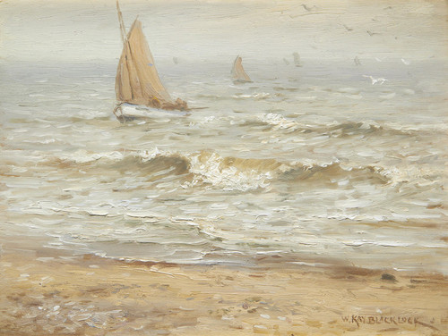 Art Prints of Boats Coming in to Land by William Kay Blacklock