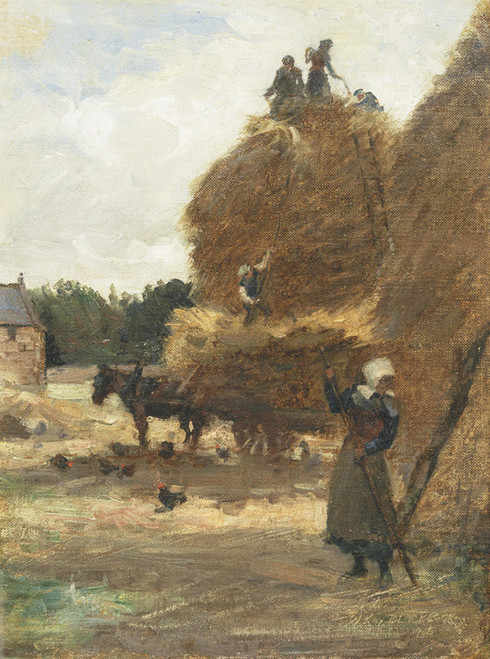 Art Prints of Stacking the Corn by William Kay Blacklock