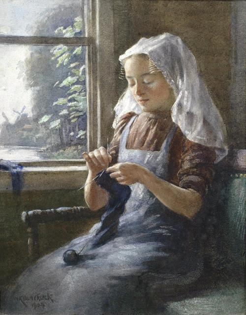 Art Prints of A Dutch Maid by William Kay Blacklock