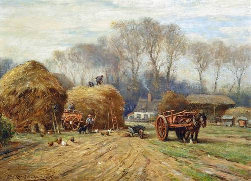 Art Prints of Bringing Home the Hay by William Kay Blacklock