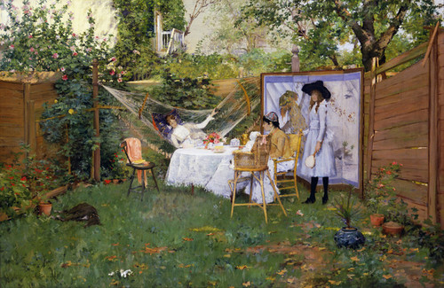 Art Prints of Open Air Breakfast by William Merritt Chase