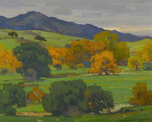 Art Prints of California Landscape Depicting Autumn Oaks by William Wendt