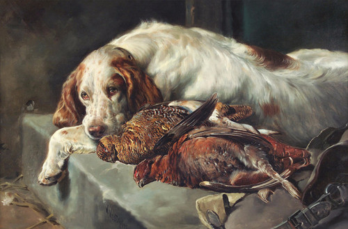 Art Prints of Setter with Grouse by William Woodhouse