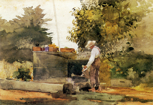 Art Prints of At the Well by Winslow Homer