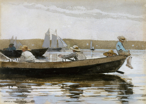 Art Prints of Boys in a Dory by Winslow Homer