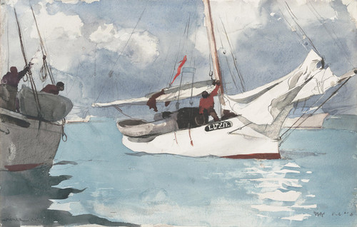 Art Prints of Fishing Boats Key West by Winslow Homer