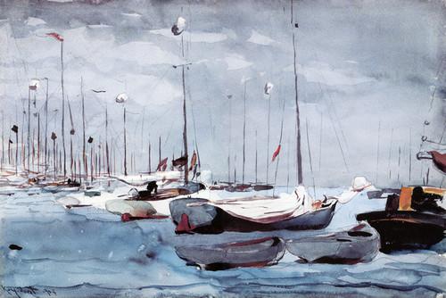 Art Prints of Fishing Boats Key West 2 by Winslow Homer