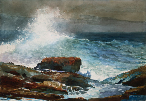 Art Prints of Incoming Tide, Scarborough, Maine by Winslow Homer