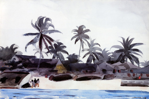 Art Prints of Key West, Cabins and Palms by Winslow Homer