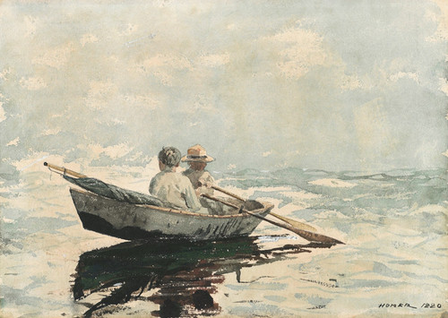 Art Prints of Rowboat by Winslow Homer