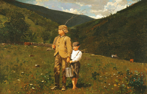 Art Prints of Crossing the Pasture by Winslow Homer