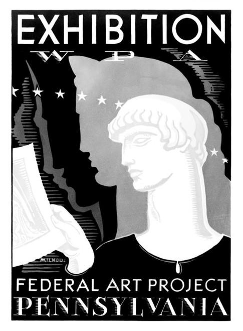 Art Prints of Exhibition, WPA Federal Art Project, Pennsylvania (399105), WPA Poster