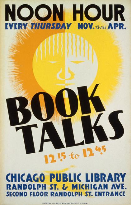 Art Prints of Book Talks, Noon Hour (399115), WPA Poster