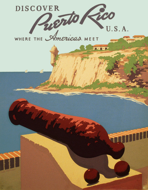Art Prints of Discover Puerto Rico, USA, WPA Poster