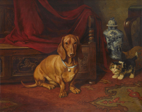 Art Prints of Best Friends by Wright Barker