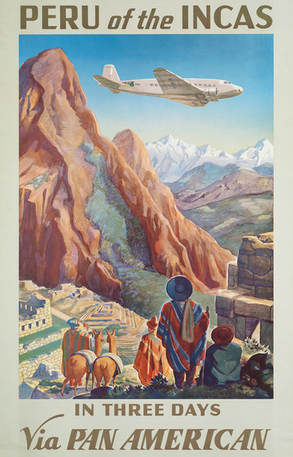 Art Prints of Peru of the Incas, Travel Posters