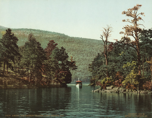 Art Prints of Among the Harbor Islands, Lake George, New York, Historic Photography