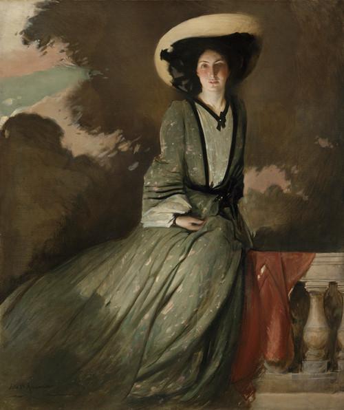 Portrait of Mrs. John White Alexander by John White Alexander | Fine Art Print