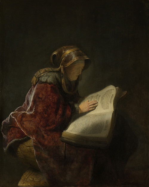 Old Lady Reading by Rembrandt van Rijn | Fine Art Print