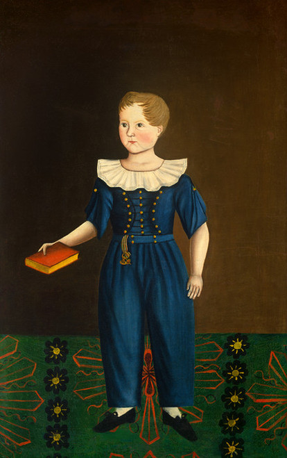 Art Prints of Boy in Blue by 19th Century American Artist