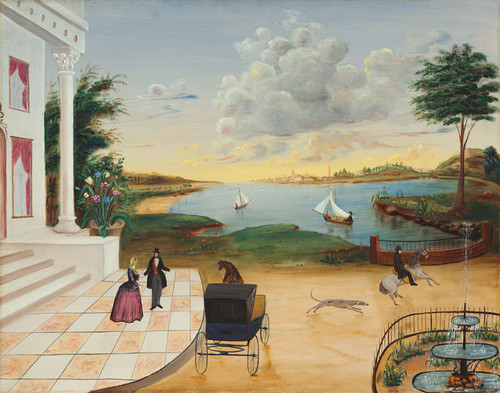 Art Prints of Leaving the Manor House by 19th Century American Artist