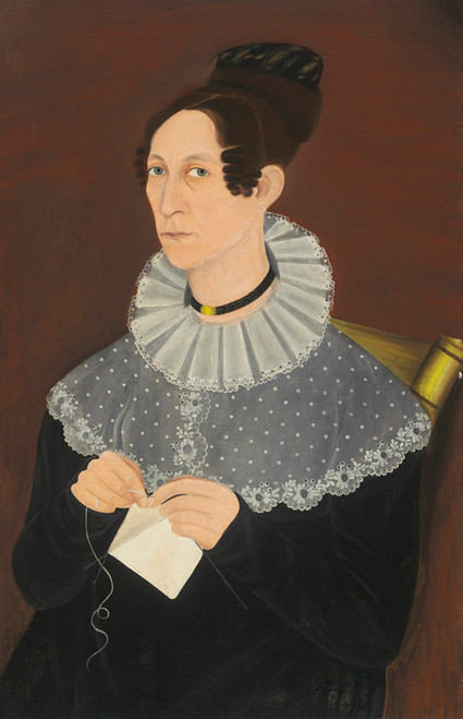 Art Prints of Sarah Cook Arnold Knitting by 19th Century American Artist