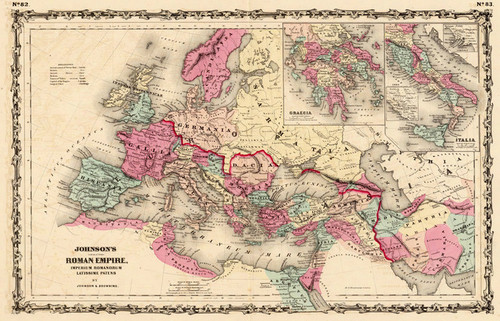 Art Prints of Roman Empire, 1860 (2905055) by A.J. Johnson