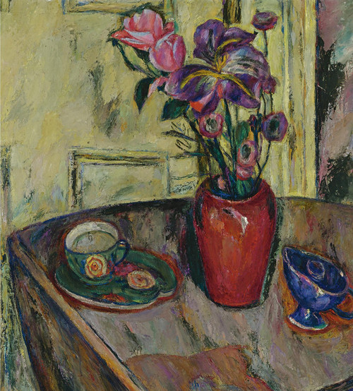 Art Prints of Flowers in a Red Vase II by Abraham Manievich