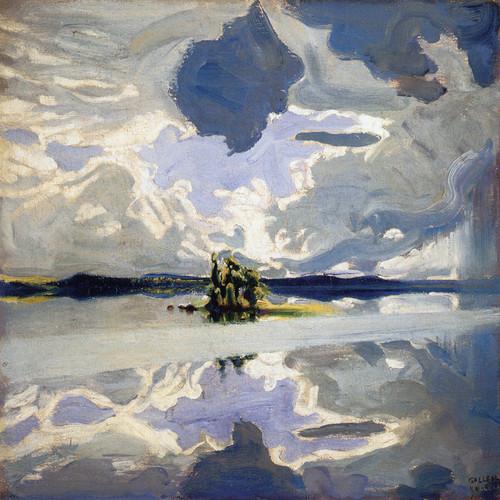 Art Prints of Clouds Above a Lake by Akseli Gallen-Kallela