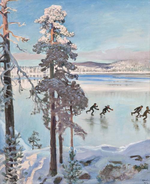Art Prints of Skater Kalela Shore by Akseli Gallen-Kallela