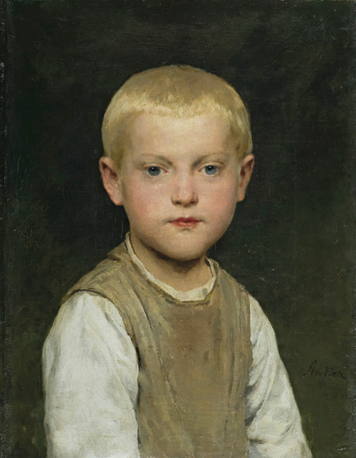 Art Prints of Portrait of a Boy by Albert Anker