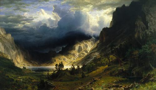 Art Prints of A Storm in the Rocky Mountains, Mount Rosalie by Albert Bierstadt