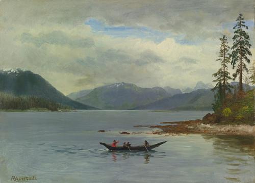 Art Prints of Northwest Coast, Loring Bay, Alaska by Albert Bierstadt