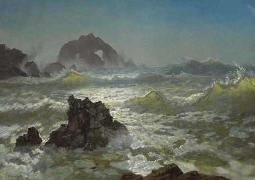 Art Prints of Seal Rock California by Albert Bierstadt