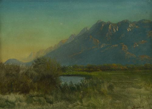 Art Prints of Mountain Landscape III by Albert Bierstadt