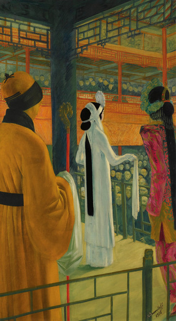 Art Prints of Opera in Peking by Alexander Evgenievich Yakovlev