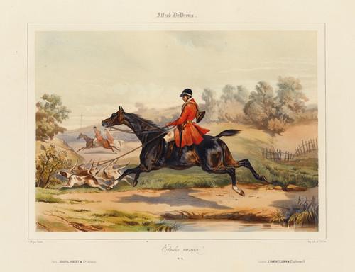 Art Prints of Fox Hunt by Alfred de Dreux