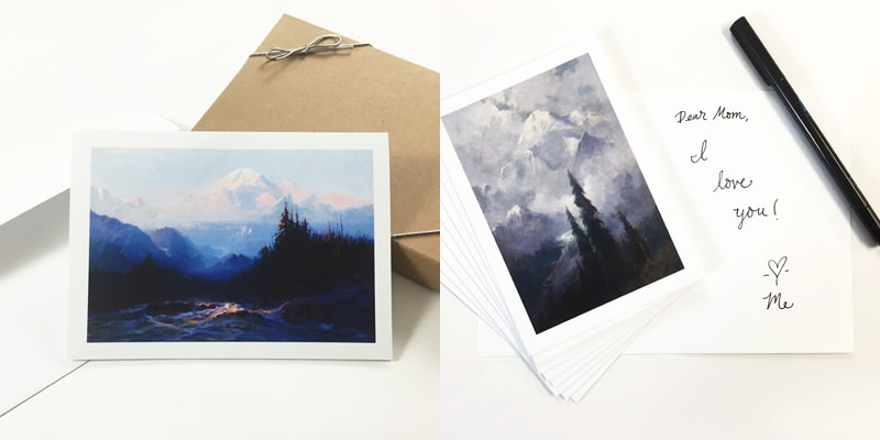 Note cards, envelopes and greeting card boxes
