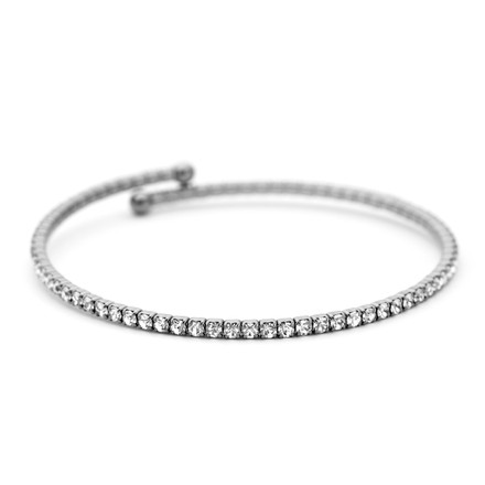 Constellation black rhodium bangle with prong set Austrian crystals great for stacking from One by One