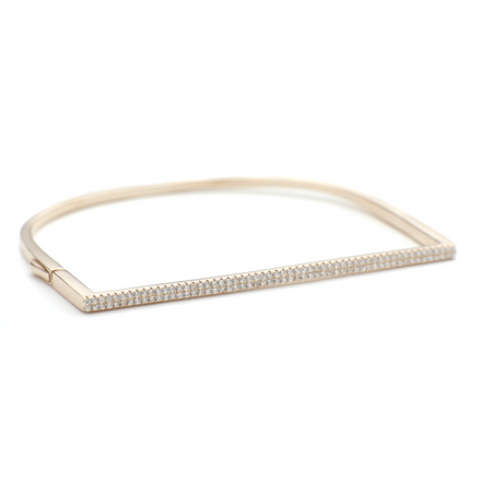 Allobar cuff bracelet in rose gold finish sterling silver base metal from One by One