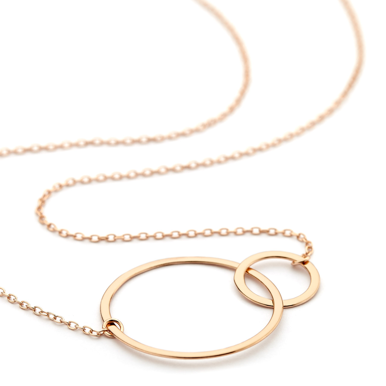 necklace vermeil silver ring gold double necklaces rose