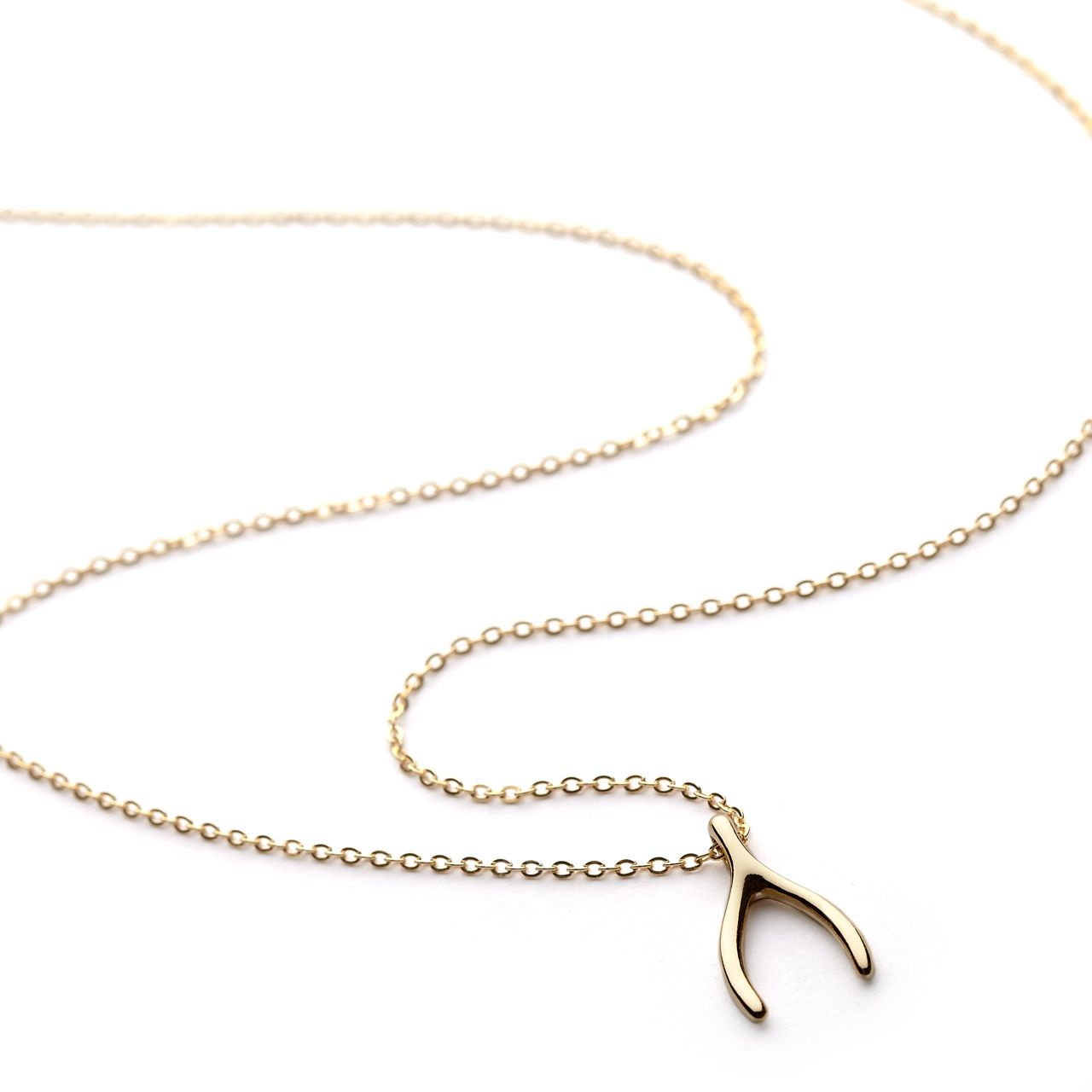 Wishbone necklace gold vermeil wishbone necklace gold vermeil aloadofball Image collections