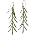 "Rosemary ""Long Wire"" Dangle Fishhook Earrings"