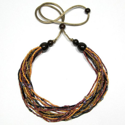 "Handmade Zulugrass African Necklace ""Chad"""