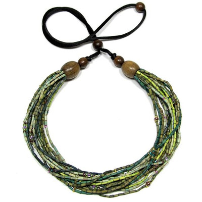 "Handmade Zulugrass African Necklace ""Challa"""