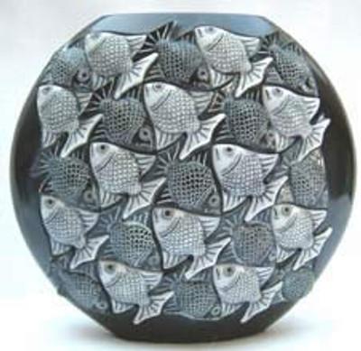 Marble Vase, Black - Symetree Series