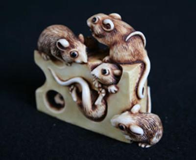 Cheesy Feet - Netsukes Series