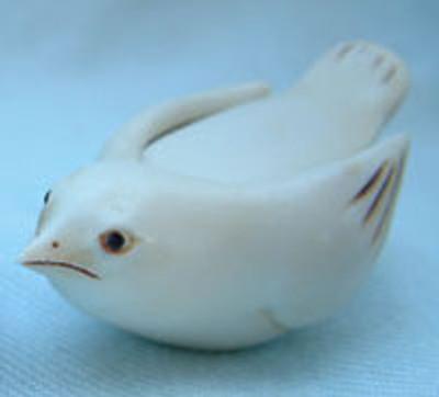 Ivory Bird Box, Ivory - Netsukes Series