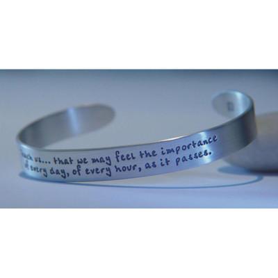 Jane Austen's Prayer Sterling Silver Cuff